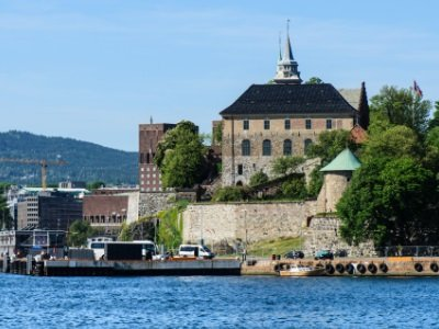 Oslo Fjord harbor and Akershus Fortress400x300