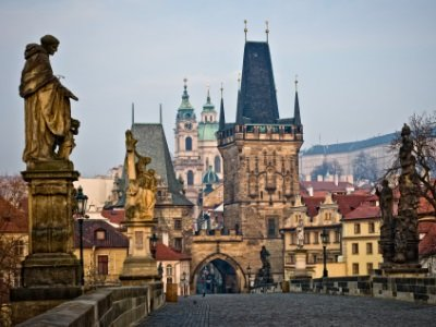 Praha_Lesser Bridge Tower of Charles Bridge400x300