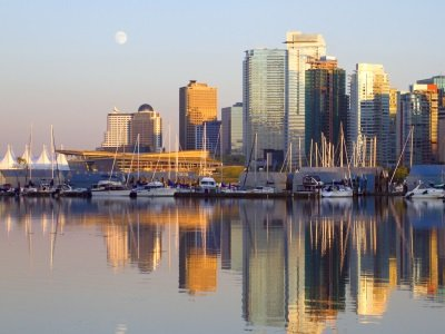 Vancouver downtown evening, Canada BC400x300