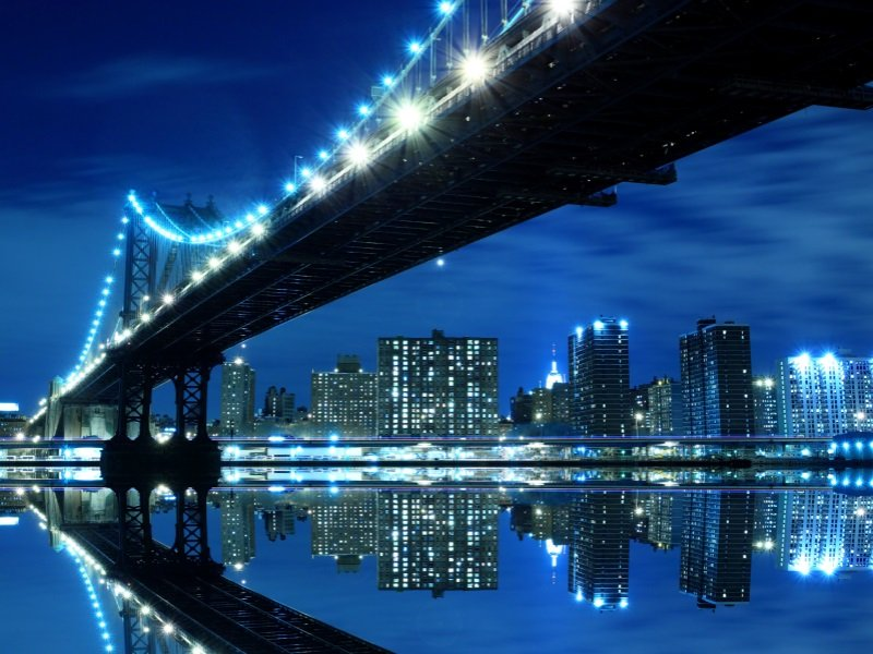 New_York_Manhattan Bridge and Manhattan skyline_800x600