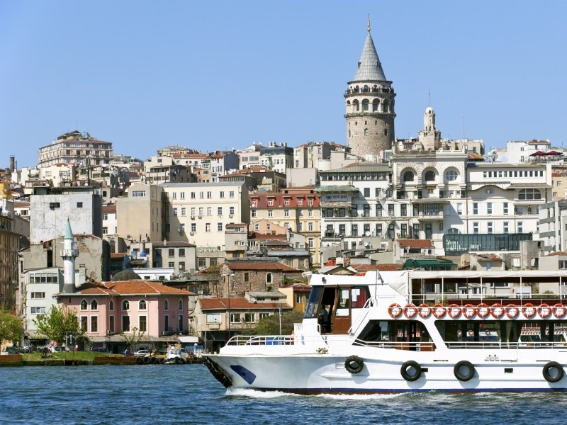 Istanbul_View of Bosphorus and Galata Tower_800x600