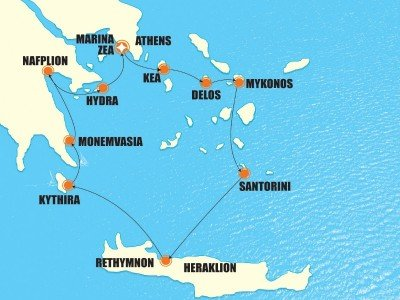 Varaa omatoiminen Ateenan risteily