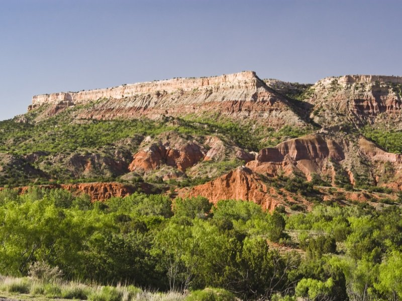 Texas_Fortress Cliffs in Palo Duro Canyon State Park in Texas_800x600