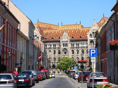 details of Fortuna street view in Budapest, Hungary_800x600