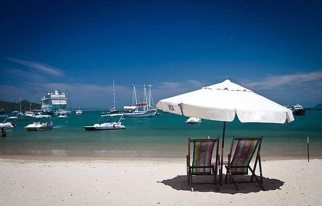 Kymenmatkat_Buzios ranta ja purjeveneet