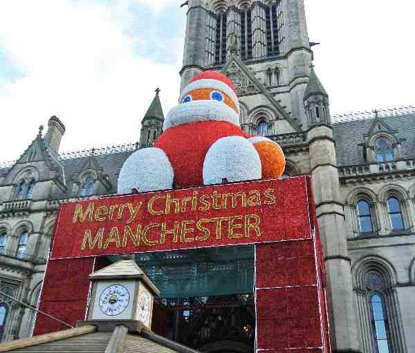 Englanti Manchester joulumarkkinat
