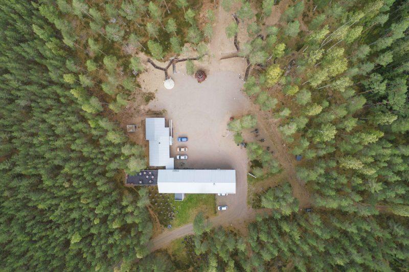 Ilmakuvia bunkkerimuseon alueesta. Kuva Lauri Rotko